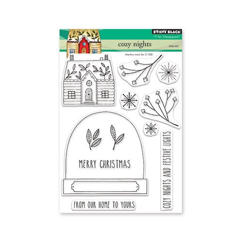 Penny Black - Christmas - Clear Photopolymer Stamps - Cozy Nights