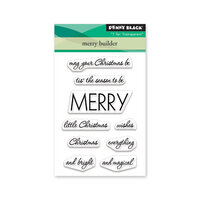 Penny Black - Christmas - Clear Photopolymer Stamps - Merry Builder