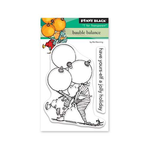 Penny Black - Christmas - Clear Photopolymer Stamps - Bauble Balance