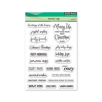 Penny Black - Christmas - Clear Photopolymer Stamps - Merry Up