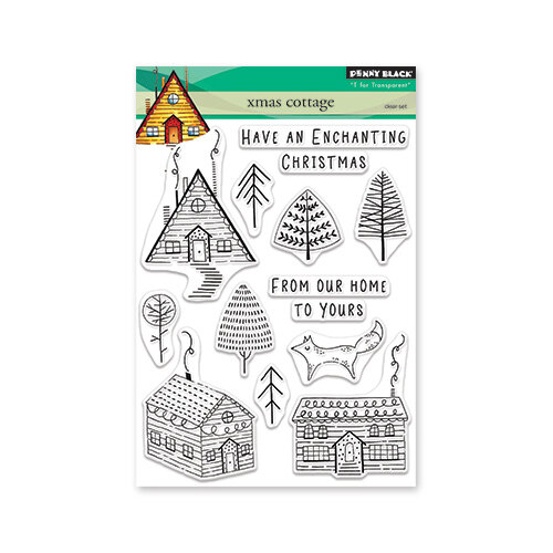 Penny Black - Christmas - First Snow Collection - Clear Photopolymer Stamps - Xmas Cottage