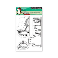 Penny Black - Christmas - First Snow Collection - Clear Photopolymer Stamps - Snow Builders