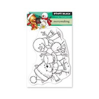 Penny Black - Christmas - First Snow Collection - Clear Photopolymer Stamps - Merrymaking