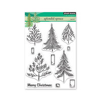 Penny Black - Christmas - First Snow Collection - Clear Photopolymer Stamps - Splendid Spruce
