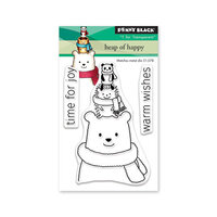 Penny Black - Christmas - First Snow Collection - Clear Photopolymer Stamps - Heap Of Happy