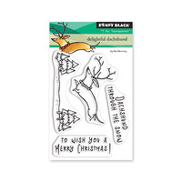 Penny Black - First Snow Collection - Christmas - Clear Photopolymer Stamps - Delighted Dachshund