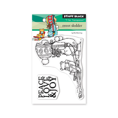 Penny Black - Christmas - First Snow Collection - Clear Photopolymer Stamps - Sweet Sledder