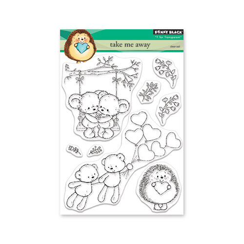 Penny Black - Share The Love Collection - Clear Photopolymer Stamps - Take Me Away