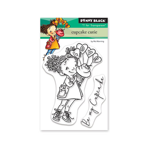 Penny Black - Share The Love Collection - Clear Photopolymer Stamps - Cupcake Cutie
