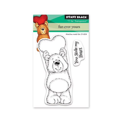 Penny Black - Share The Love Collection - Clear Photopolymer Stamps - Fur-Ever Yours