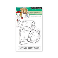 Penny Black - Share The Love Collection - Clear Photopolymer Stamps - Bear-y Much