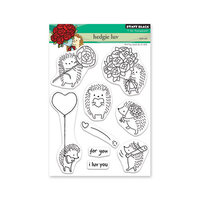 Penny Black - Share The Love Collection - Clear Photopolymer Stamps - Hedgie Luv