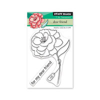 Penny Black - Share The Love Collection - Clear Photopolymer Stamps - Dear Friend