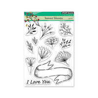 Penny Black - Share The Love Collection - Clear Photopolymer Stamps - Banner Blooms