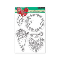 Penny Black - Share The Love Collection - Clear Photopolymer Stamps - Key To Kindness