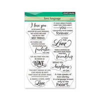 Penny Black - Share The Love Collection - Clear Photopolymer Stamps - Love Language