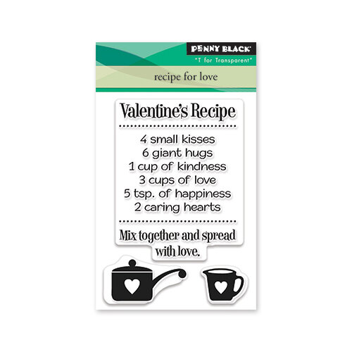 Penny Black - Share The Love Collection - Clear Photopolymer Stamps - Recipe For Love