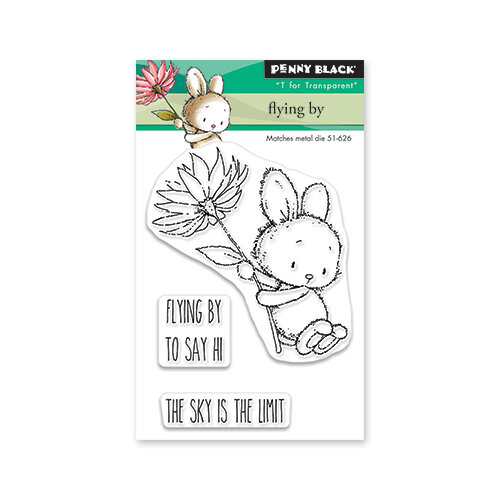 Penny Black - Secret Garden Collection - Clear Photopolymer Stamps - Flying By