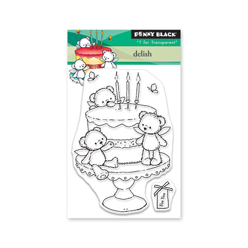 Penny Black - Secret Garden Collection - Clear Photopolymer Stamps - Delish