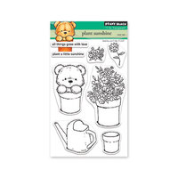 Penny Black - Secret Garden Collection - Clear Photopolymer Stamps - Plant Sunshine