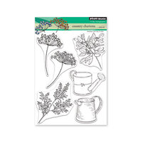 Penny Black - Secret Garden Collection - Clear Photopolymer Stamps - Country Charisma