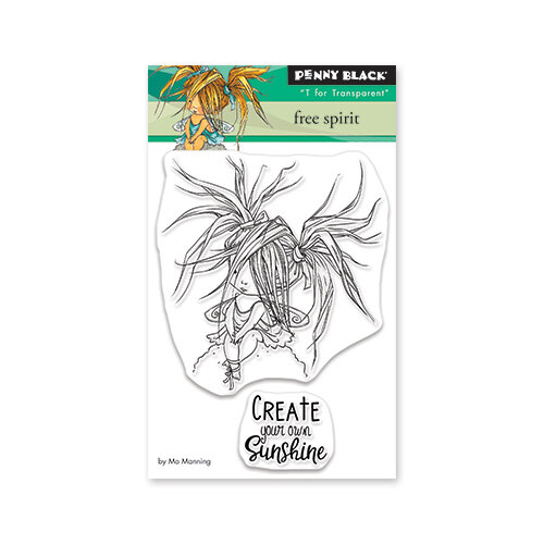 Penny Black - Secret Garden Collection - Clear Photopolymer Stamps - Free Spirit