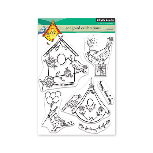 Penny Black - Secret Garden Collection - Clear Photopolymer Stamps - Songbird Celebrations