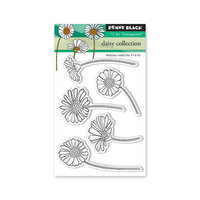 Penny Black - Secret Garden Collection - Clear Photopolymer Stamps - Daisy Collection