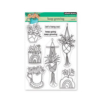 Penny Black - Secret Garden Collection - Clear Photopolymer Stamps - Keep Growing