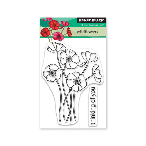 Penny Black - Secret Garden Collection - Clear Photopolymer Stamps - Wild Flowers
