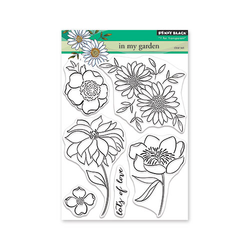 Penny Black - Secret Garden Collection - Clear Photopolymer Stamps - In My Garden