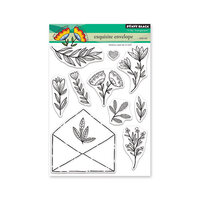 Penny Black - Secret Garden Collection - Clear Photopolymer Stamps - Exquisite Envelope