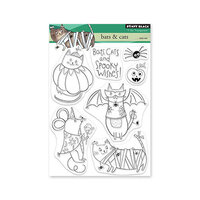 Penny Black - Clear Photopolymer Stamps - Bats and Cats