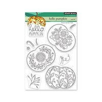 Penny Black - Clear Photopolymer Stamps - Hello Pumpkin
