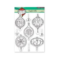 Penny Black - Christmas - Making Spirits Bright Collection - Clear Photopolymer Stamps - Fragile Frills