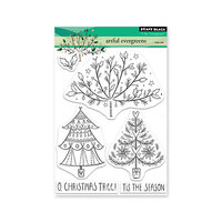 Penny Black - Christmas - Clear Photopolymer Stamps - Artful Evergreens