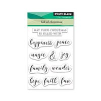 Penny Black - Making Spirits Bright Collection - Clear Photopolymer Stamps - Full Of Christmas