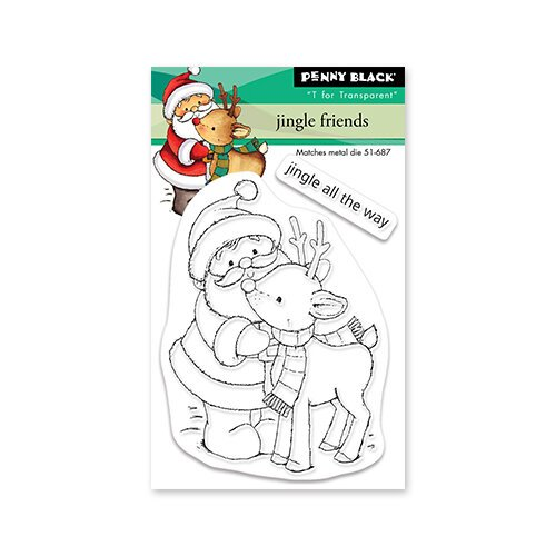 Penny Black - Clear Photopolymer Stamps - Christmas - Jingle Friends