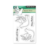 Penny Black - Winter Wishes Collection - Clear Photopolymer Stamps - Dearest Doves