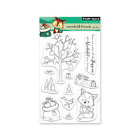 Penny Black - Clear Photopolymer Stamps - Christmas - Snowfield Friends