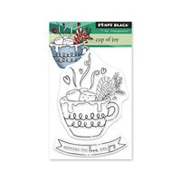 Penny Black - Winter Wishes Collection - Clear Photopolymer Stamps - Cup of Joy