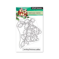 Penny Black - Christmas - Making Spirits Bright Collection - Clear Photopolymer Stamps - Owl-ways Merry