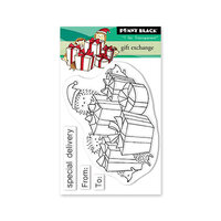 Penny Black - Clear Photopolymer Stamps - Christmas - Gift Exchange