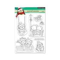 Penny Black - Clear Photopolymer Stamps - Christmas - Scarved Sweetie