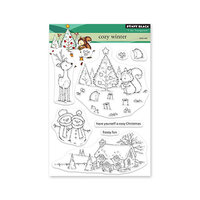 Penny Black - Winter Wishes Collection - Clear Photopolymer Stamps - Cozy Winter