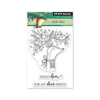 Penny Black - Winter Wishes Collection - Clear Photopolymer Stamps - Hello Deer