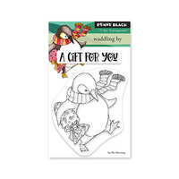 Penny Black - Winter Wishes Collection - Clear Photopolymer Stamps - Waddling By