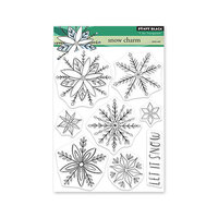 Penny Black - Winter Wishes Collection - Clear Photopolymer Stamps - Snow Charm
