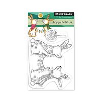 Penny Black - Winter Wishes Collection - Clear Photopolymer Stamps - Hoppy Holidays