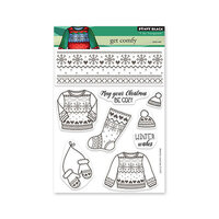 Penny Black - Winter Wishes Collection - Clear Photopolymer Stamps - Get Comfy